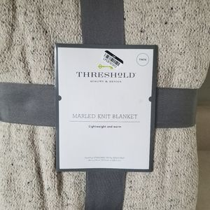 Threshold marble knit twin size blanket